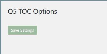 Minimal TOC menu page
